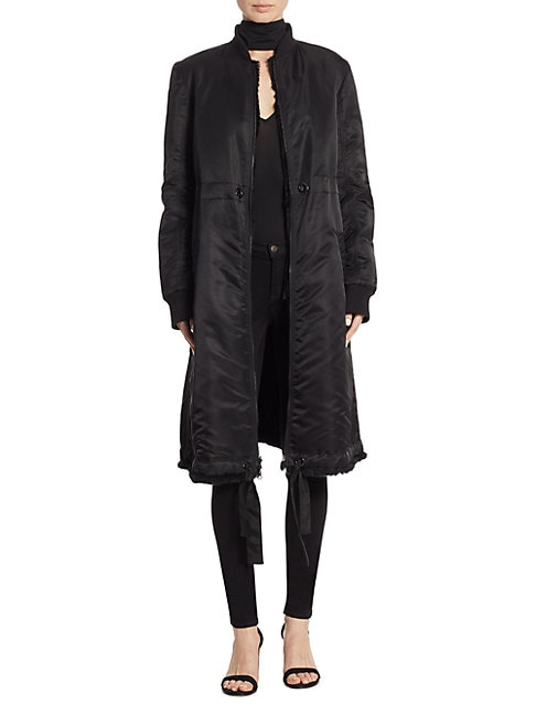 Darby Reversible Long Rabbit Fur Coat