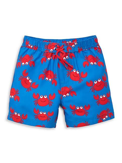 Baby Boy's Crab-Print Swim Trunks