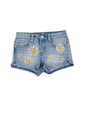 Little Girl's Daisy Short Shorts