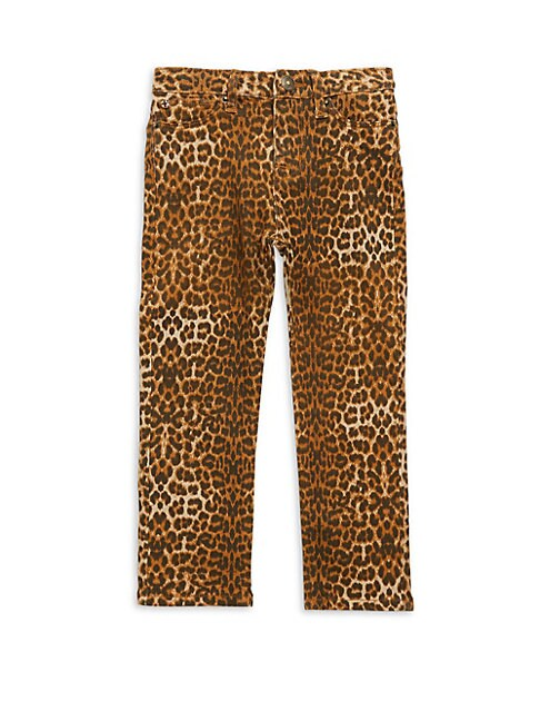 HUDSON JEANS | Little Girl's Dolly Leopard Print Jeans | Goxip