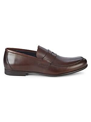 Edward Collapsible-heel Leather Penny Loafers - BrownHarrys of London uFJ2JMkAvE