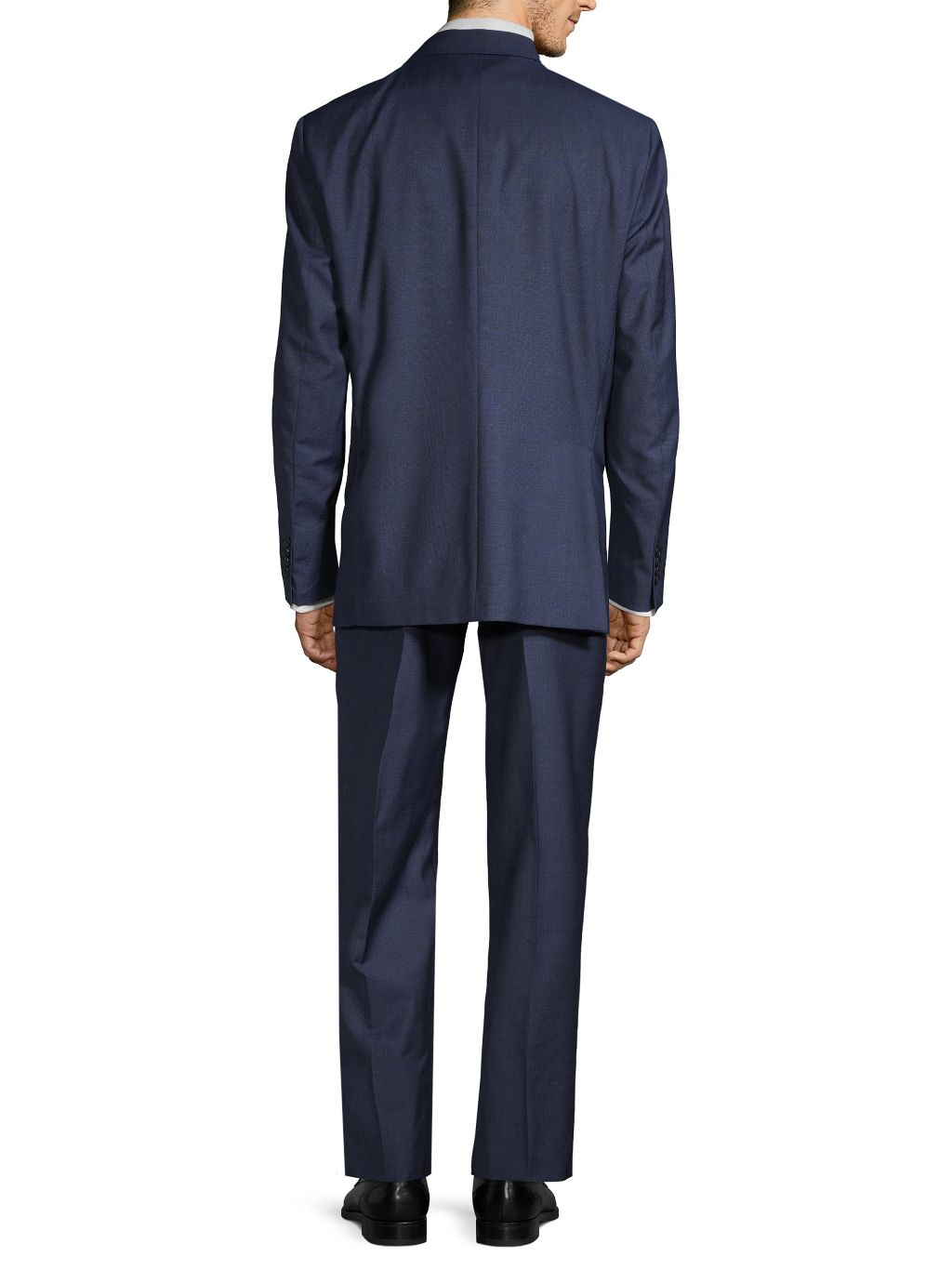 Saks Fifth Avenue Made in Italy Plaid Classic-Fit Wool Suit