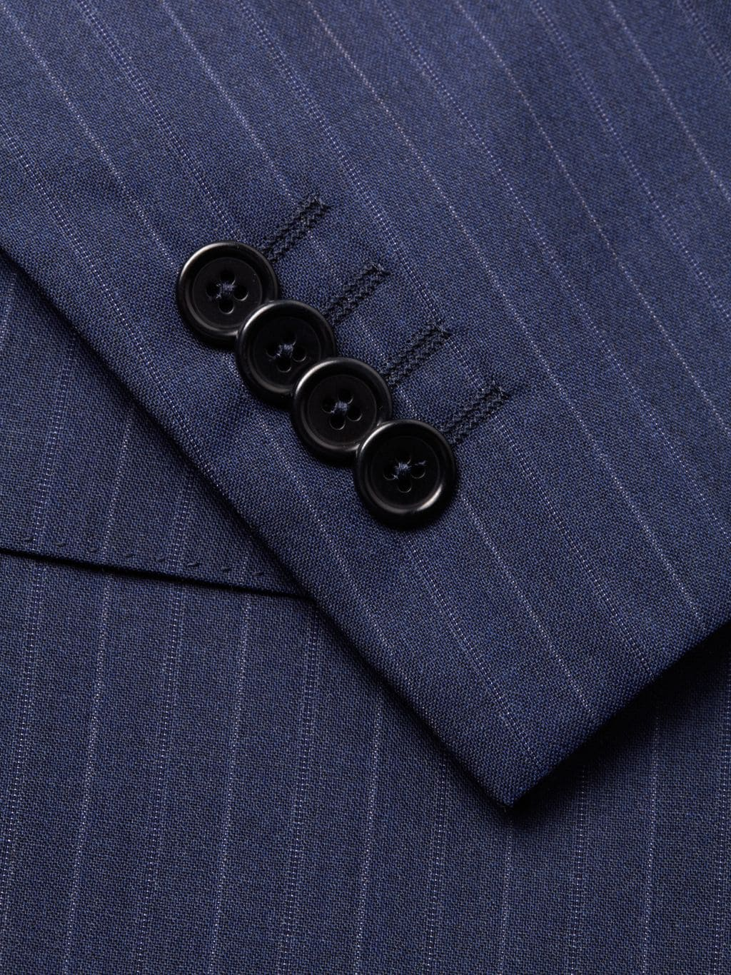 Saks Fifth Avenue Made in Italy Slim-Fit Striped Wool Suit