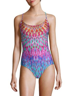 Luli Fama One-Piece Multicolored Drop Swimsuit