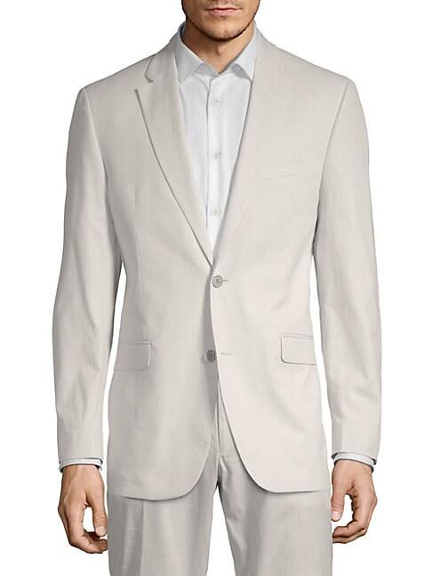 TOMMY HILFIGER | Stretch Cotton Stripe Sport Jacket | Goxip