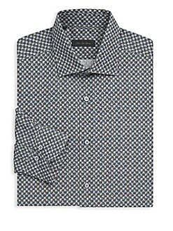Saks Fifth Avenue - COLLECTION Dotted Cotton Button-Down Shirt