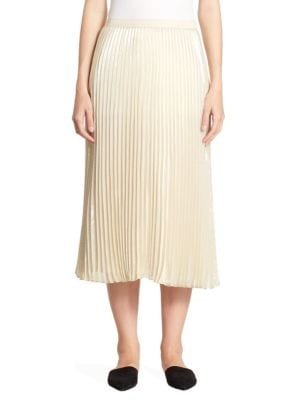 St. John  SILK PLEATED SKIRT