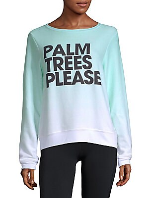 Ombre Palm Trees Please Sweatshirt