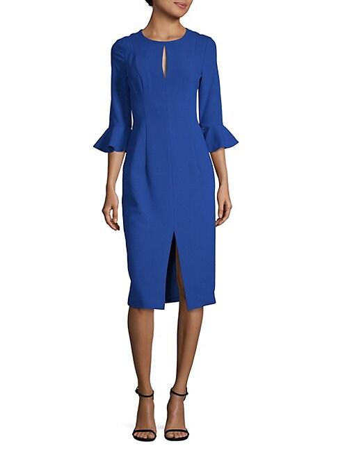 BLACK HALO EVE | Bastian Bell-Cuff Sheath Dress | Goxip