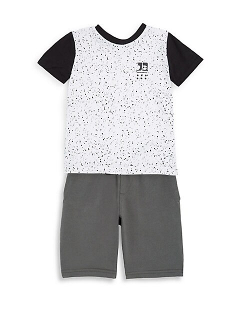 Little Boys 2Piece Graphic Cotton Tee and Shorts Set