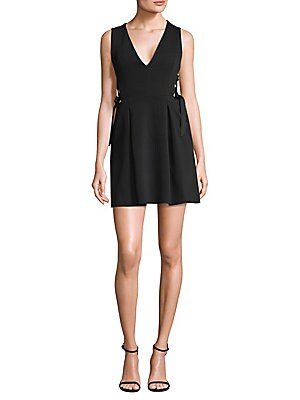 Crisscross Little Black Dress