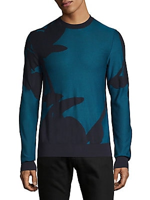 Cotton Silk Crewneck Sweater