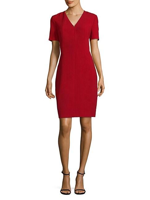 Roanna Dress Satin Sheath Dress