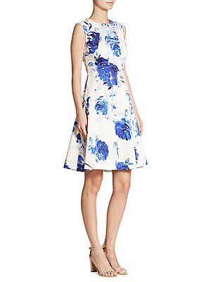 Sophia Watercolor Dropwaist Dress