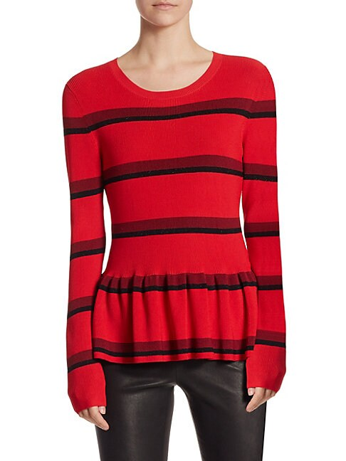 COLLECTION Ribbed Peplum Sweater