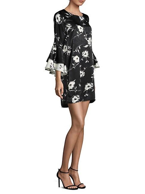 DELFI COLLECTIVE | Alana Statement Sleeve Floral Dress | Goxip