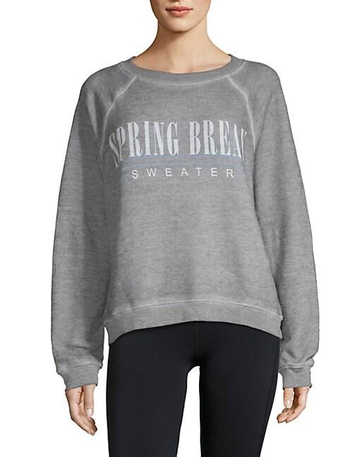 Graphic Raglan-Sleeve Sweater