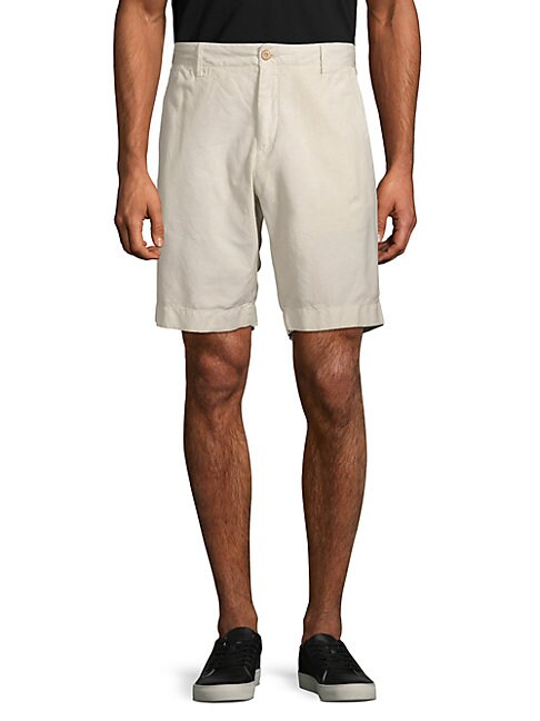 FAHERTY BRAND   Classic Linen & Cotton Shorts   Goxip