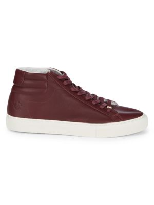 True Religion Sneakers Leather Lace-Up Hi-Top Sneakers