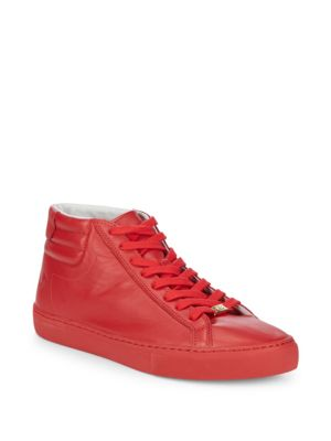 True Religion Leathers Leather Hi-Top Sneakers