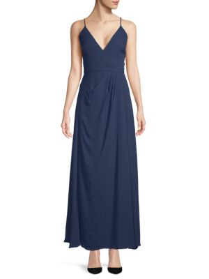 Fame And Partners Rhodes Open Back Flare Gown