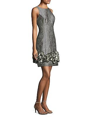 Sleeveless Brocade Cocktail Dress