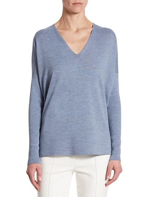 Wool Dolman-Sleeve Top