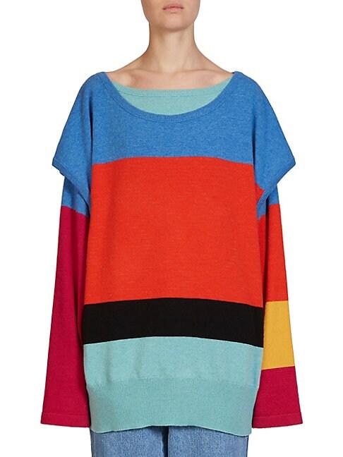 Layered Wool & Cashmere Sweater