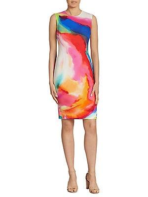Claudette Splash-Print Dress