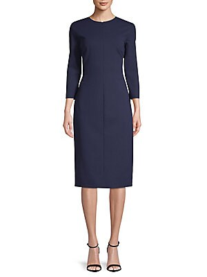 Jewelneck Sheath Dress