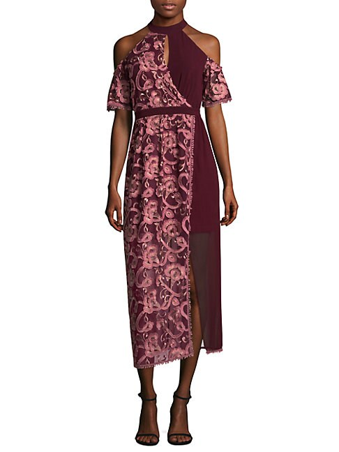 Three Floor TOKYO EMBROIDERED LACE SHIFT DRESS