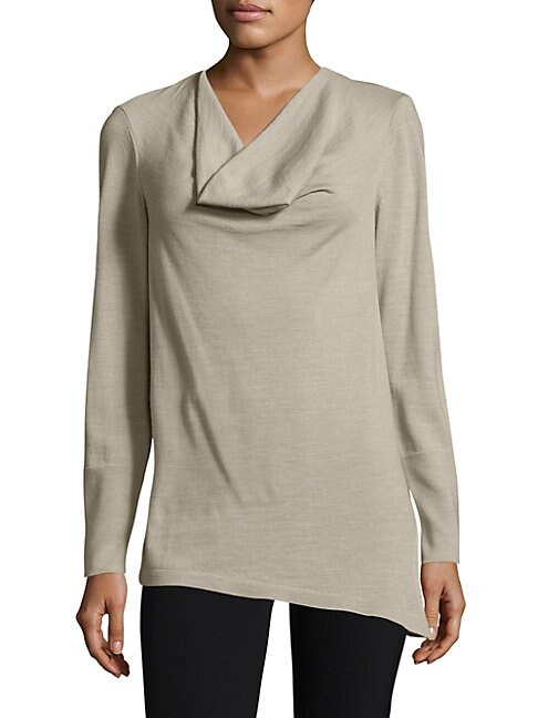 Asymmetrical Cowlneck Sweater