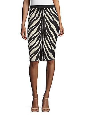 Caden Zebra Print Pencil Skirt