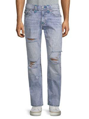 True Religion Slim-fit Distressed Jeans