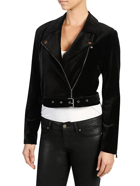 PAIGE | Shanna Velvet Moto Jacket | Goxip