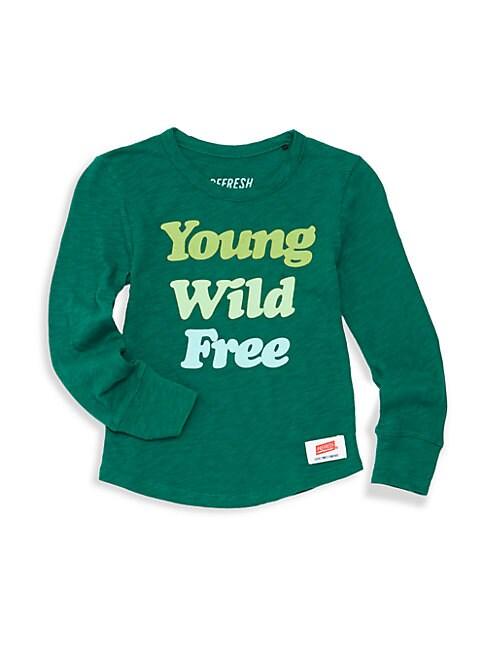 Little Girl's Young Free and Wild T-Shirt