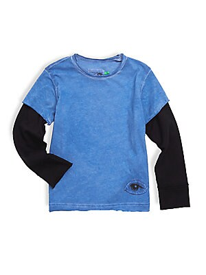Little Boy's Tiny Eye Patch Cotton Tee