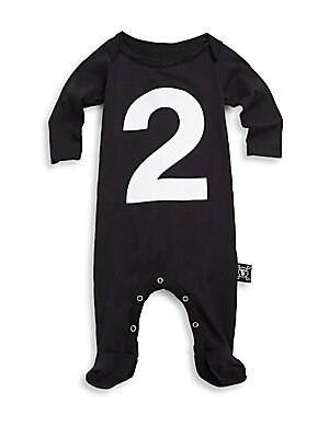Babys Number Cotton Footie