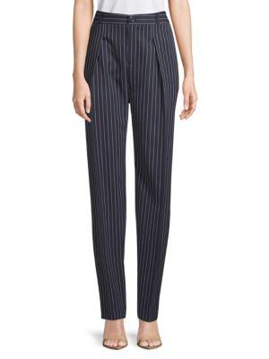 Lanvin  Pinstriped Wool Trousers