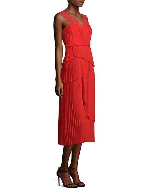 Cinnamon Gathered Midi Dress