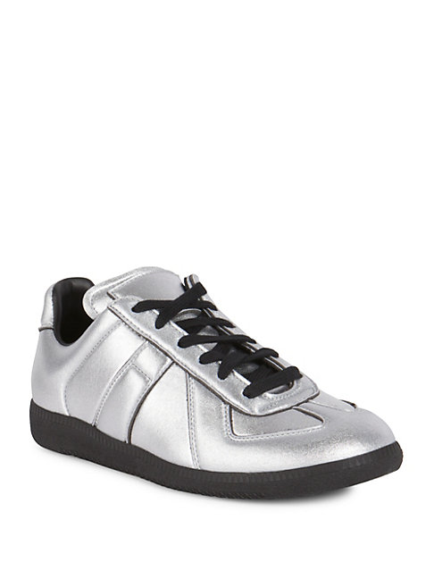 BLENDED RUBBER SOLE SNEAKERS