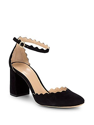 5e5d339f9fe Chloé - Scalloped Leather Ankle-Strap Pumps - saksoff5th.com