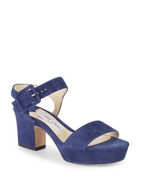 Harriet Suede Ankle Strap Sandals