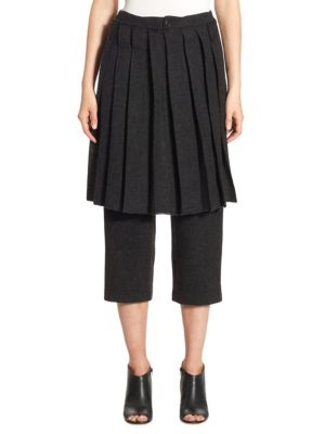 NOCTURNE 22 Pleated Skirt Pants in Black