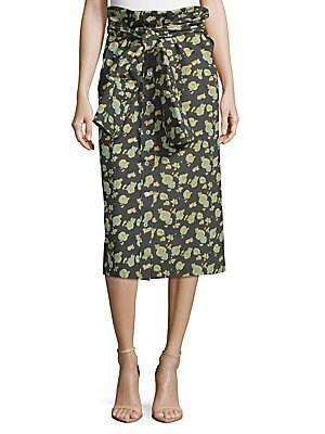 a detacher female smith peony cotton skirt