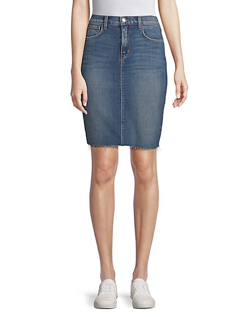 Montecito Denim Pencil Skirt