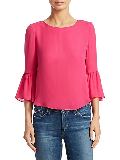 Bernice Silk Bell Sleeve Top