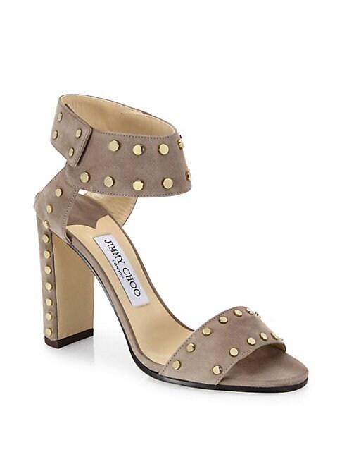 Veto Studded Suede Block Heel Sandals