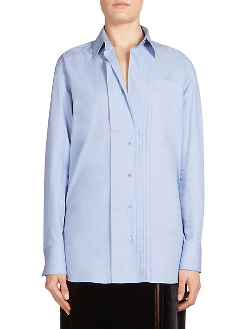 Cedric Charlier COTTON BUTTON FRONT SHIRT