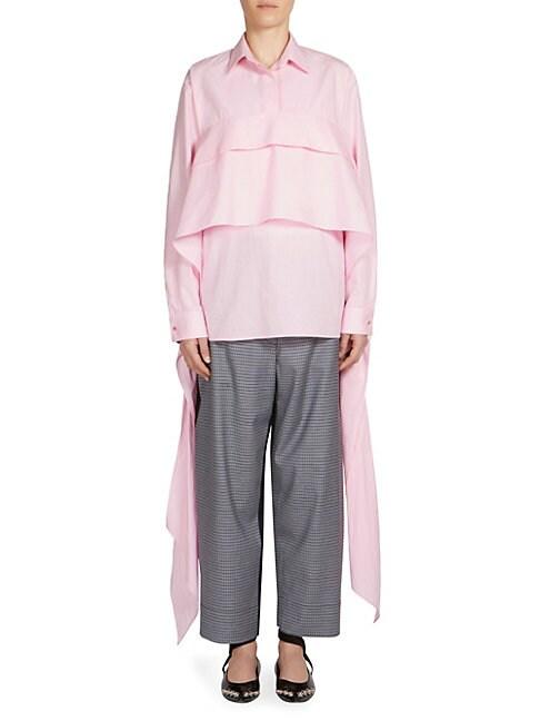 C DRIC CHARLIER | Cotton Wrap Bustier Shirt | Goxip